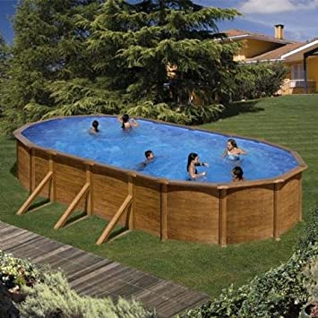 Lovely Gre M286493u0026nbsp;  Steel Oval Swimming Pool Galapagos Wood Aspect Kit730we