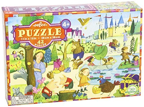 Eeboo Mystery in the Forest Jigsaw Puzzle, 42 Pieces by eeBoo