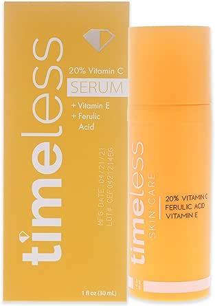 Timeless Vitamin C Plus E 20 Percent Ferulic Acid Serum, 30 ml (Pack of 1)