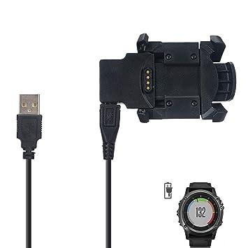 BECEMURU - Cargador de Repuesto para Garmin Fenix 3 HR, Cable de ...