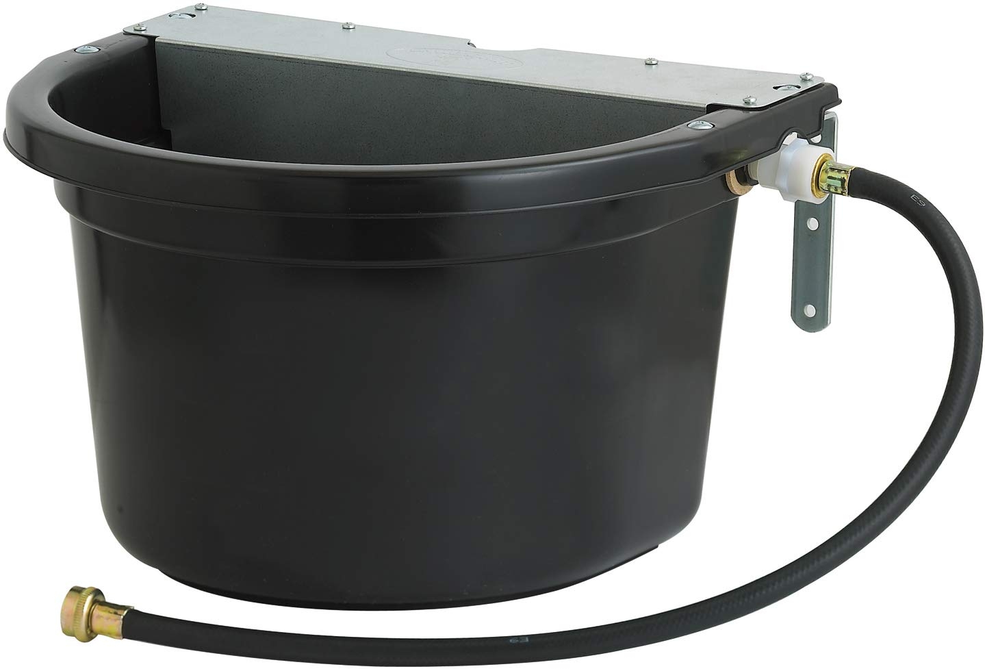 LITTLE GIANT Duramate Automatic Waterer with Metal Cover, Black