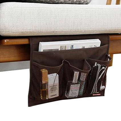 4 Pockets Tidy Bedside Caddy Organizer Hanging Storage Mattress Armrest  Chair Desk TV Remote Controller Holder