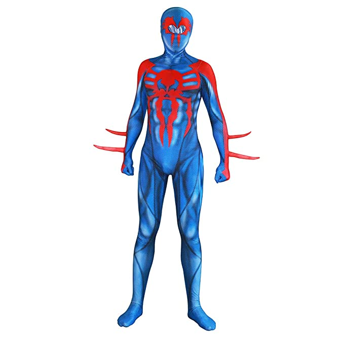 GanSouy Traje azul de Spiderman Adulto Unisex Men Spider-Man ...