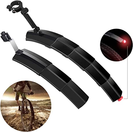 Guardabarros para Bicicleta Juego de Guardabarros Retráctil ...
