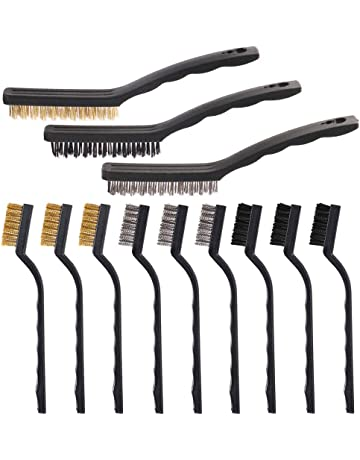 4-1//2 Brush Length 1-1//2 Block Width 5 x 10 Wire Rows PFERD 85081 Standard Straight Back Block Brush.012 Carbon Steel Pack of 12