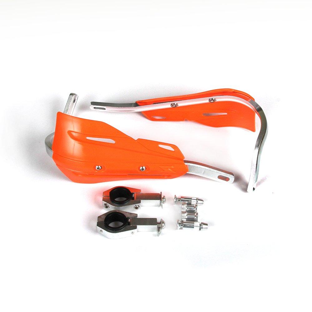 arancione Moto universale da 22mm e 28mm in alluminio Protezione delle mani Protezione delle mani per motocross Dirt Bike KTM EXC EXC SX SXF SXS MXC MX XC XCW XCF XCFW EGS Enduro