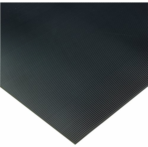 Wearwell PVC 702 Non-Conductive Corrugated Switchboard Matting, Full Roll, for Electronic and High-Voltage Apparatus, 3' Width x 75' Length x 1/4