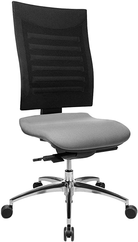 Schafer Shop Ssi Proline S3 Desk Chair Office Chair With 3d Mesh Back Without Armrests Aluminium Base Intervertebral Disc Seat Synchronised Mechanism 5 Year Guarantee Made In Germany Amazon De Kuche Haushalt