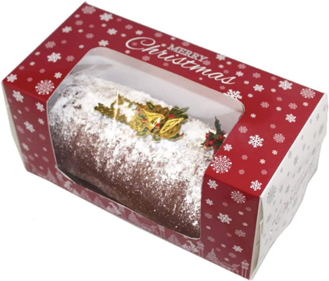 "Christmas Log  Yule Log Cake Board Card  4/"" x 8/"" Inch FAST SHIPPING"