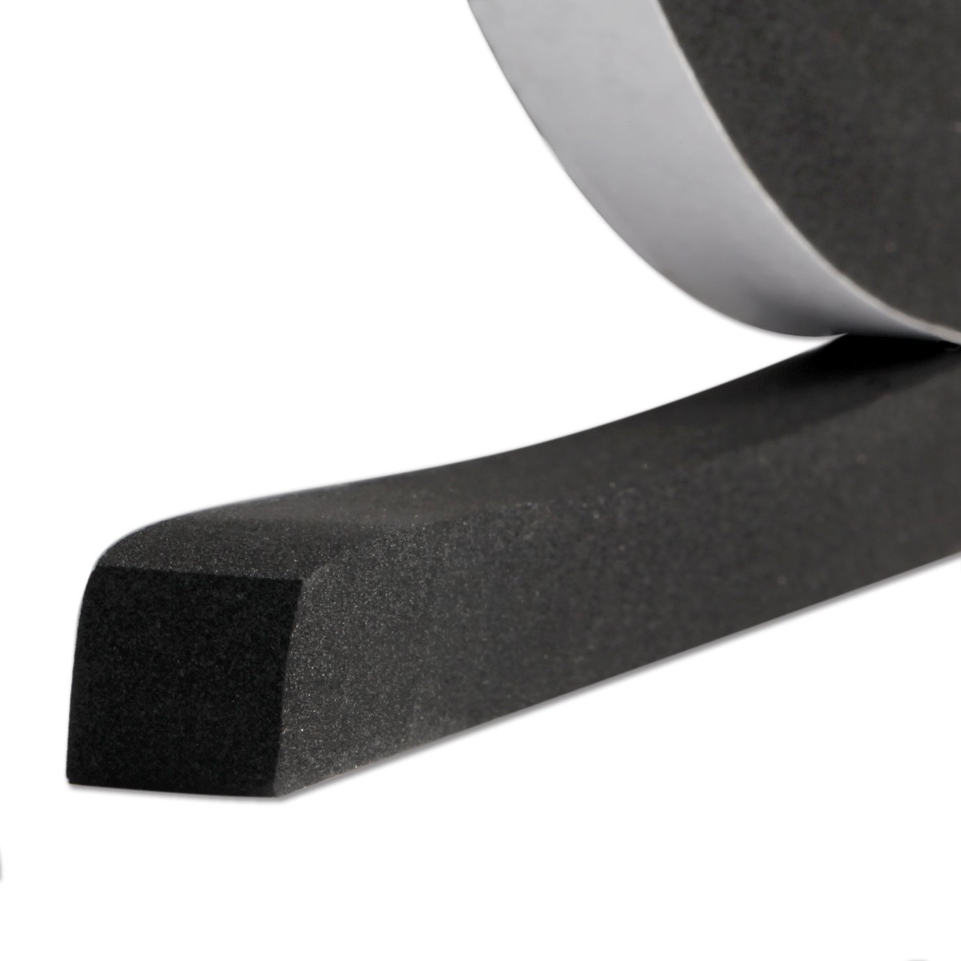 Thick Foam Tape, Weather Stripping for Windows and Doors Adhesive Sound Proof Closed Cell 1/2 inch Wide X 1/2 inch Thick X 13 Feet Long (1/2in 1/2in)