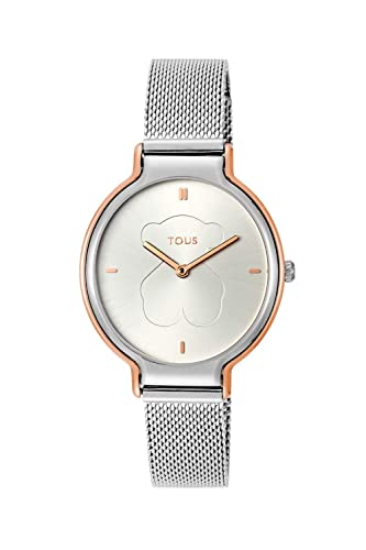 Reloj TOUS Real Bear bicolor de acero/IP rosado Ref:800350890: Amazon.es: Relojes