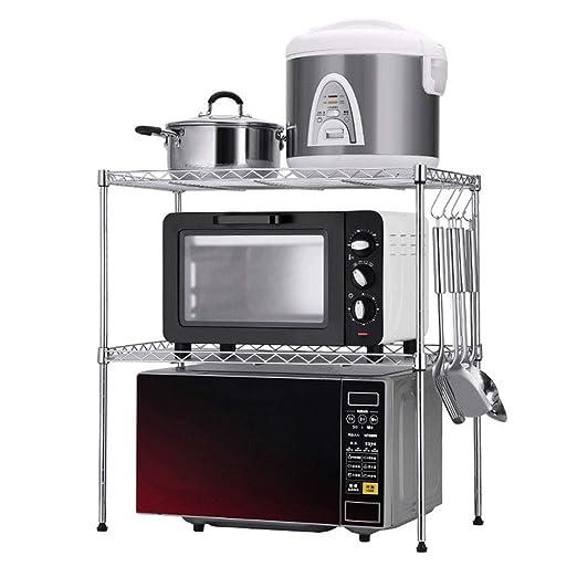 FJZ Cocina de Doble Capa Ajustable Microondas Horno Perchero ...