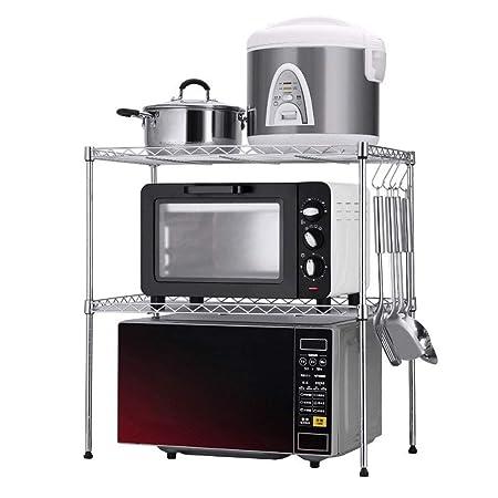 FJZ Cocina de Doble Capa Ajustable Microondas Horno Perchero de ...