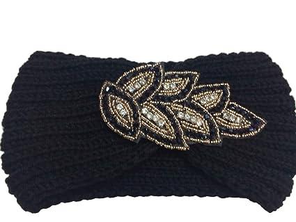 TININNA Donne Moda Caldo Lavora a maglia Crochet Knit Fascia per capelli  Accessori per capelli Copricapo 81743f902e90