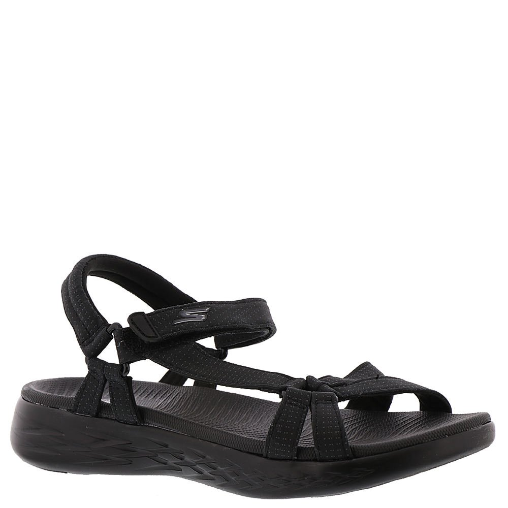 Skechers Women's on-The-Go 600-Brilliancy Sport Sandal B079Q356QL 7 W US|Black Bbk