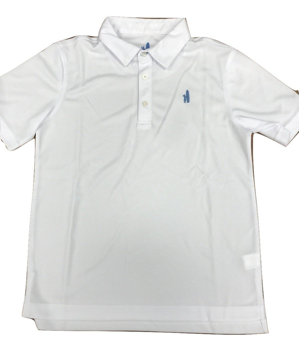 johnnie-O Boy's Fairway Prep-Formance Polo, White, 16