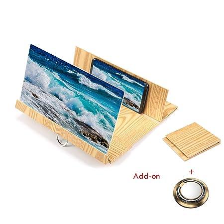 Kobwa - Lupa de pantalla para smartphone de 12 pulgadas ...