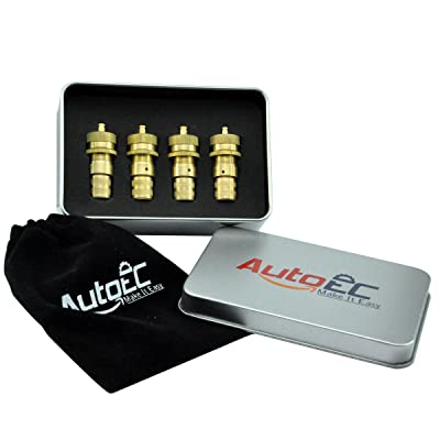 AutoEC Tire Deflator, Adjustable Brass Tyre Deflator Kit for Off Road Tires, Car, Truck, Jeep and ATV (4 Pack): Automotive