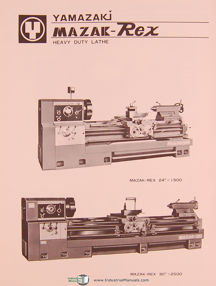 mazak rex yamazaki 24 and 30 lathe operations and parts list rh amazon com Mazak Machine Mazatrol Programming Manual