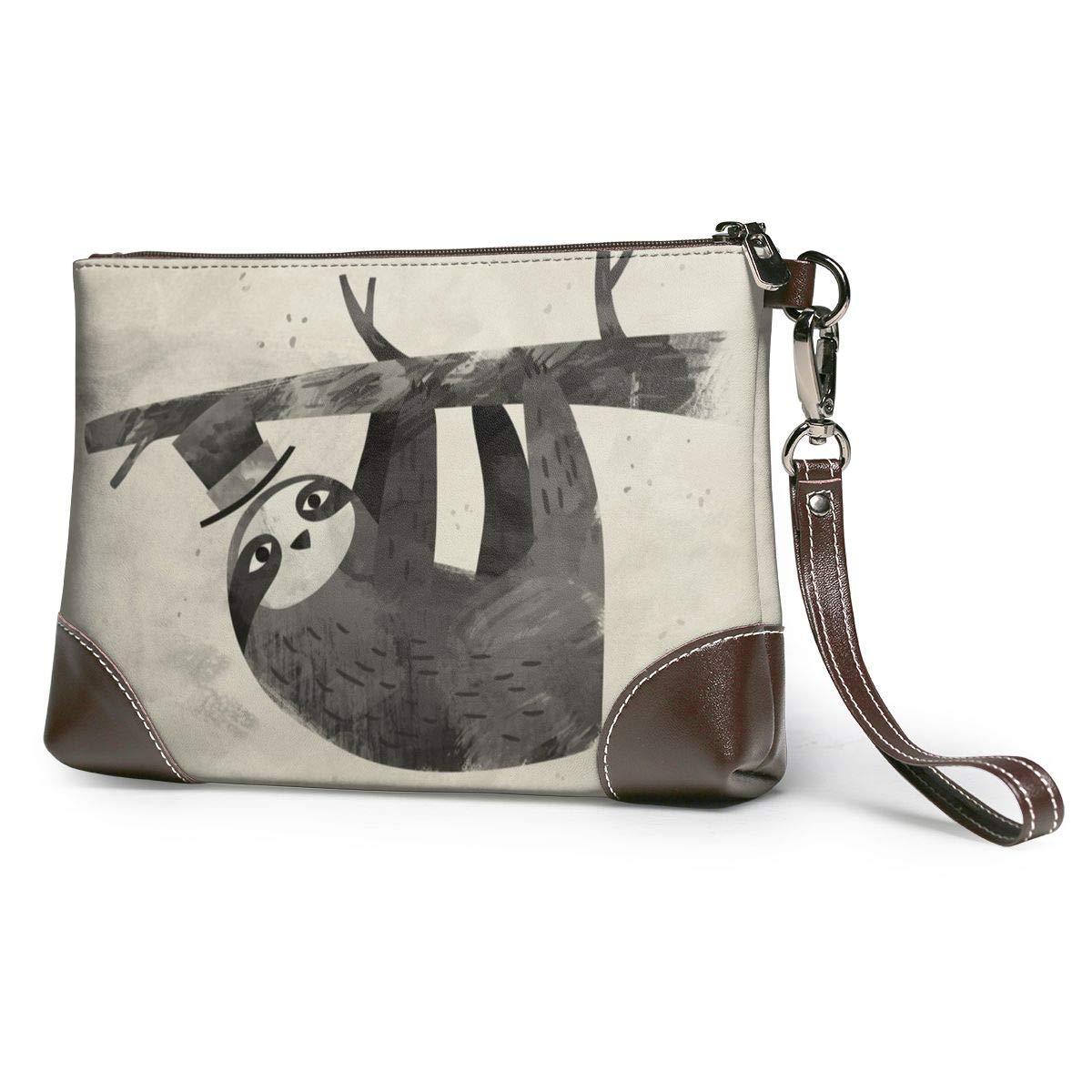 Mr Sloth Canvas Makeup Bag Pouch Purse Handbag Organizer with Zipper