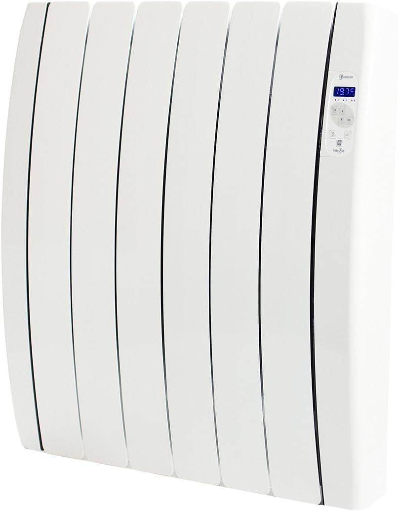 Haverland RC6TTS Inerzia - Emisor Térmico Bajo Consumo, 900W de Potencia, 6 Elementos, Programable, Exclusivo Indicador De Consumo, Bloques De Piedra Natural Ideal Uso Prolongado