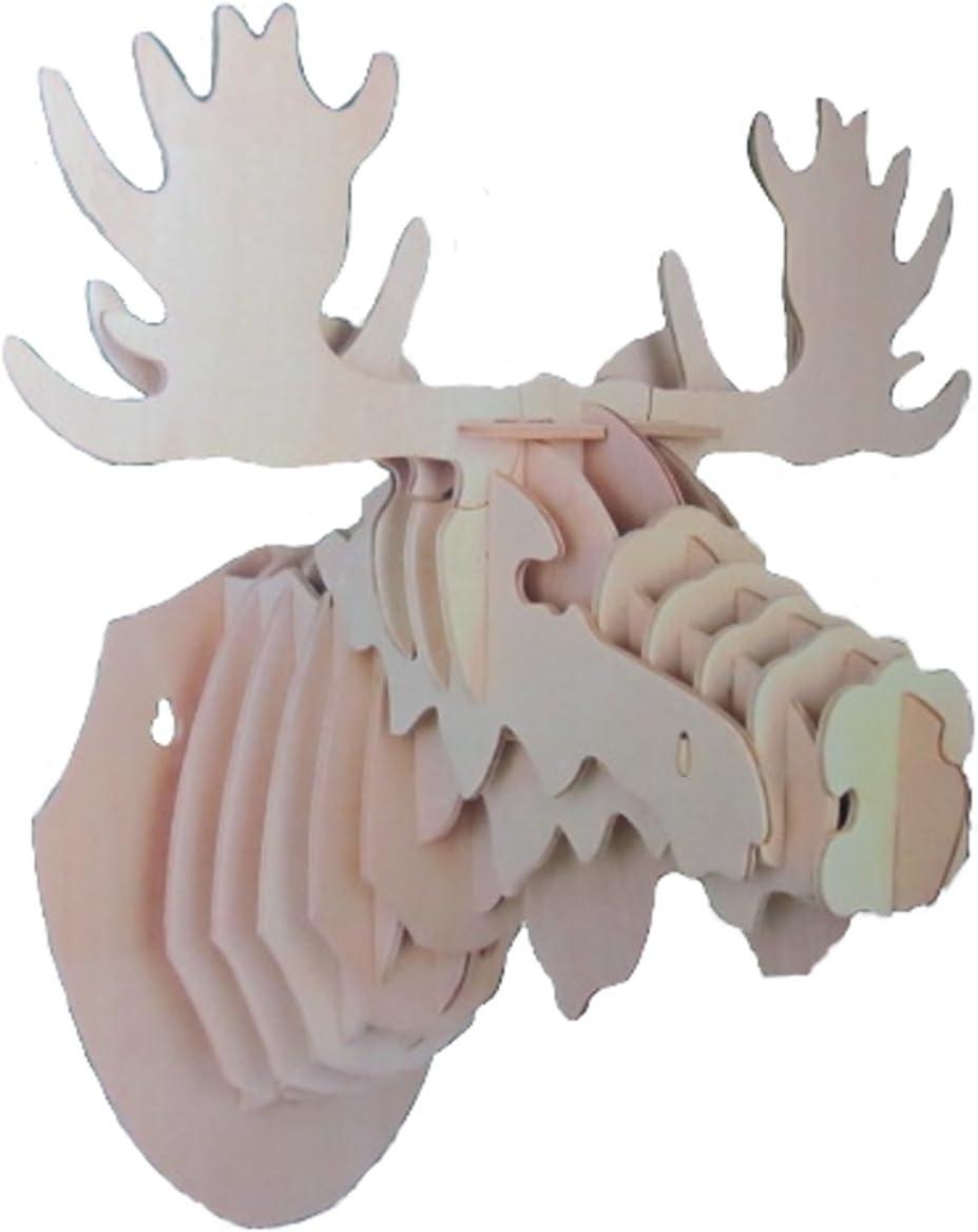 Reward Original Mounted Moose 3-D Wooden Puzzle