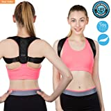 Posture Corrector for Women and Men - FDA Approved, USA Designed Adjustable Comfortable Upper Back Brace Clavicle Support Device for Thoracic Kyphosis and Shoulder, Neck Pain Relief