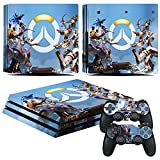 EBTY-Dreams Inc. - Sony Playstation 4 Pro (PS4 Pro) - Overwatch Heroes Tracer Winston Reinhardt Pharah Reaper Bastion Hanzo Torbjorn Widowmaker Mercy Symmetra Zenyatta Vinyl Skin Sticker Decal