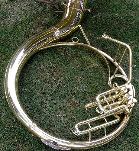 Sousaphone Brass Metal 20'' Bb SAI MUSICAL 3 VALVE WITH BAG MOUTH PIECE SHIP FAST by SAI MUSICAL (Image #4)