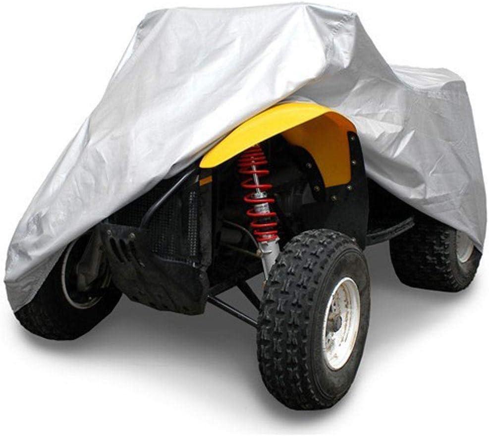 staubdicht atmungsaktiv ATV Abdeckplane mit winddichtem Gurt UV-Schutz Quad Motorrad Allwetter Motorradabdeckung im Freien Wasserdicht