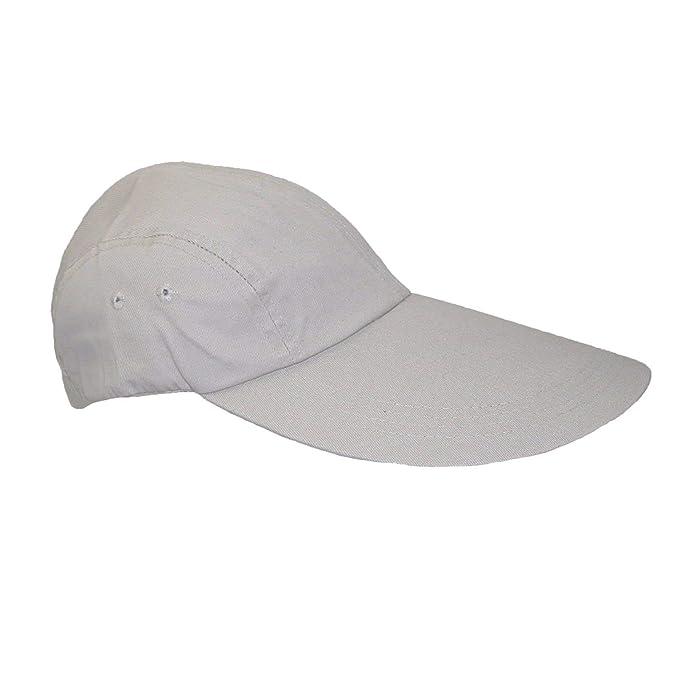 Cotton Long 5 Inch Bill Sun Visor Baseball Cap 852d575de3c