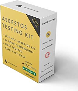 Asbestos Test Kit - 2 x Sample Only Testing - 24hr (1 Business Day) NVLAP lab result with lab testing fee included.