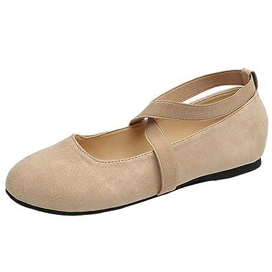 OHQ Bas De Chaussures à Talons CroiséS Fond Plat pour Femmes Noir Kaki Rose  Les Glissent d5e05b56beb2