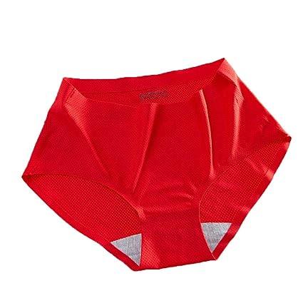 Braguitas Bragas Briefs Pantalones Calzoncillos Ropa Interior Sin Rastro Transpirable Fresco Cintura Media Lima De Algodón