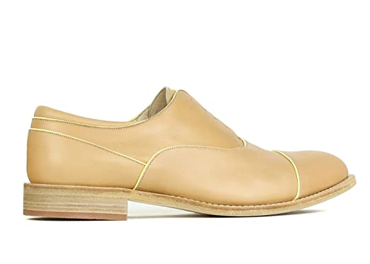 9739f5a3b64 Image Unavailable. Image not available for. Color  Brunello Cucinelli  Womens Light Brown Yellow Leather Loafers
