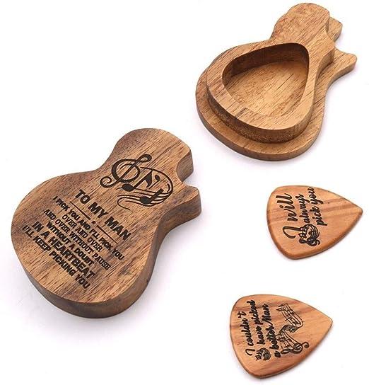Fgnaoc Cuerdas Guitarra palillo de Madera Cuadro Titular del ...