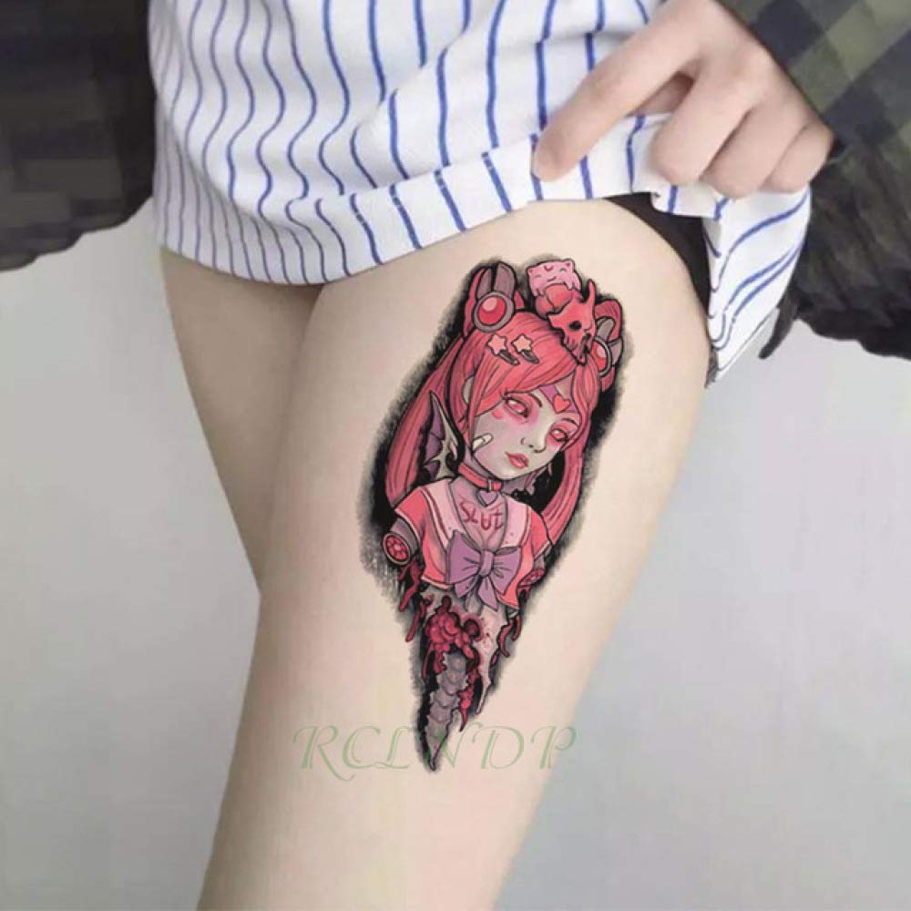 5Pcs-Waterproof Tattoo Cartoon Japanese Girl Bow Sticker Tattoo ...