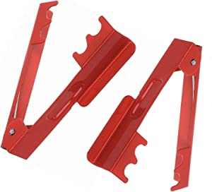 Vimi 2 Pack Thorn Leaf Stripper Stripping Tool Thorn Remover for Roses and Floral Arrangement Red