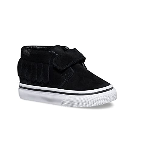a1868c8854 Vans Toddler s Chukka V Moc (Suede) Black White First Walkers Shoes (4.5