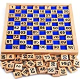 100 number tiles - My childlike 1-100 wooden board digital Montessori early childhood toys digital board