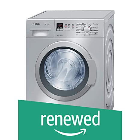 (Renewed) Bosch 7 kg Fully-Automatic Front Loading Washing Machine (WAK24168IN, Silver)