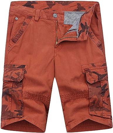 Pantalones Cortos Hombre PantalóN Corto De Carga De AlgodóN para Hombre Pantalones Cortos De Trabajo Al Aire Libre Pantalones Cortos: Amazon.es: Ropa y accesorios