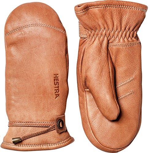 Hestra Leather Gloves for Men: Lambskin Thin Winter Gloves, Cork, -
