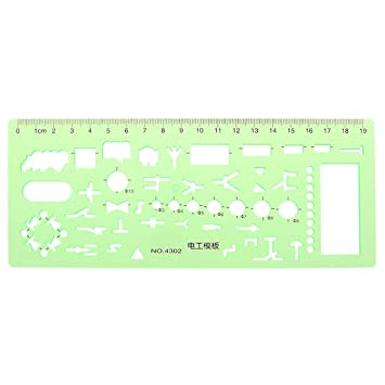 Lunji Geometric Electrician Formwork Template Ruler Stencil Drawing Measuring Tool