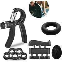 Hovico Hand Grip Strengthener Workout Kit 5 Pack, Adjustable Grip Exerciser, Finger Stretcher Resistance Extensor Bands…