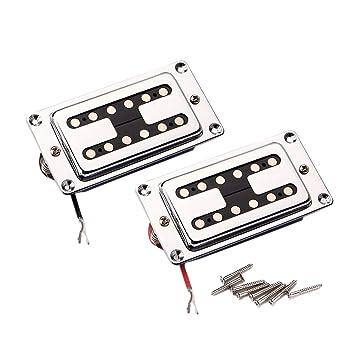 Healifty Pastillas Humbucker selladas para guitarra Pastillas de doble bobina para guitarras eléctricas LP con tornillos de montaje: Amazon.es: Instrumentos ...