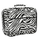 World Traveler 17 Inch Laptop Computer Case, Black Trim Zebra, One Size