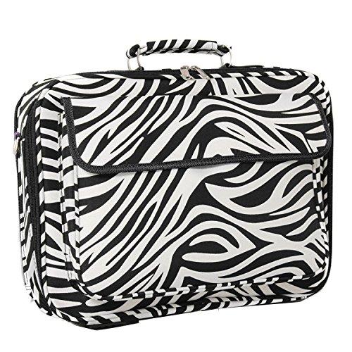 World Traveler 17 Inch Laptop Computer Case, Black Trim Zebra, One -