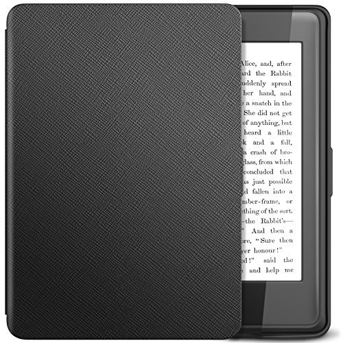 TiMOVO Case Compatible for Kindle Paperwhite - PU Leather Smart Cover with Auto Wake/Sleep Function Fits Paperwhite Versions Prior to 2018 (Will not Fit All-New Paperwhite 10th Gen), Black