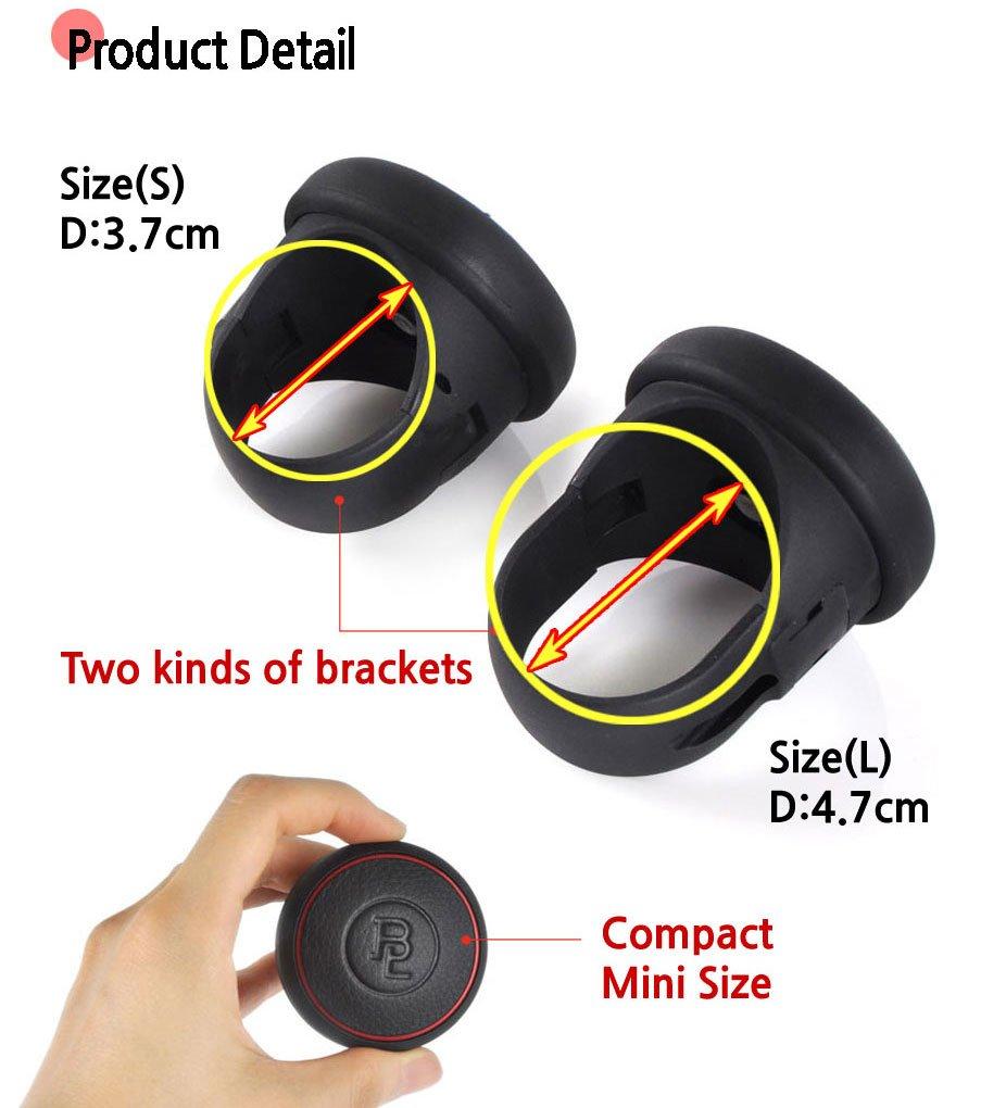 GRAY BL Edge Power Handle Steering Wheel Spinner Knob for All Car Vehicle